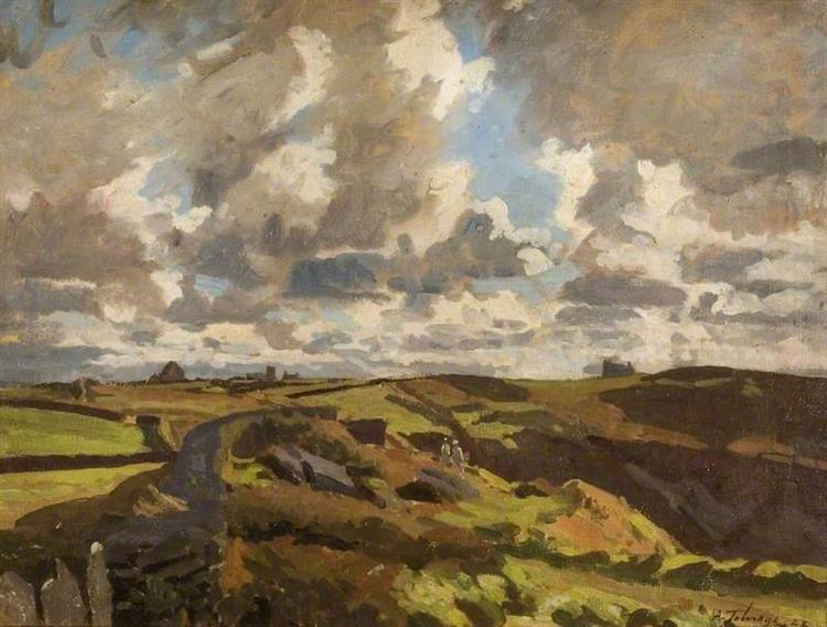 Before the Storm, Tintagel, Cornwall, 1922 - Algernon Talmage