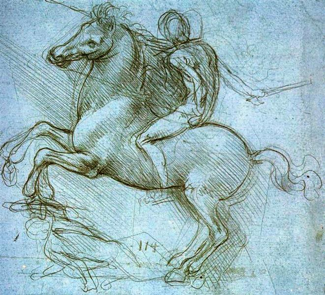 Study for the Sforza Monument, 1489 - Léonard de Vinci