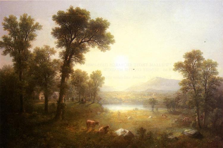 Lake Scene in the Mountains - Asher Brown Durand