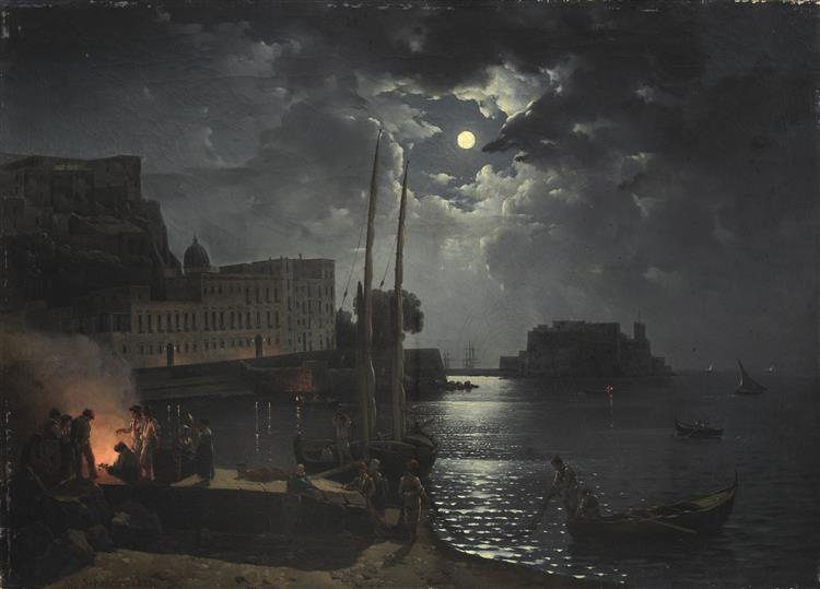 Moonlit night in Naples, 1828 - Sylvester Feodossijewitsch Schtschedrin