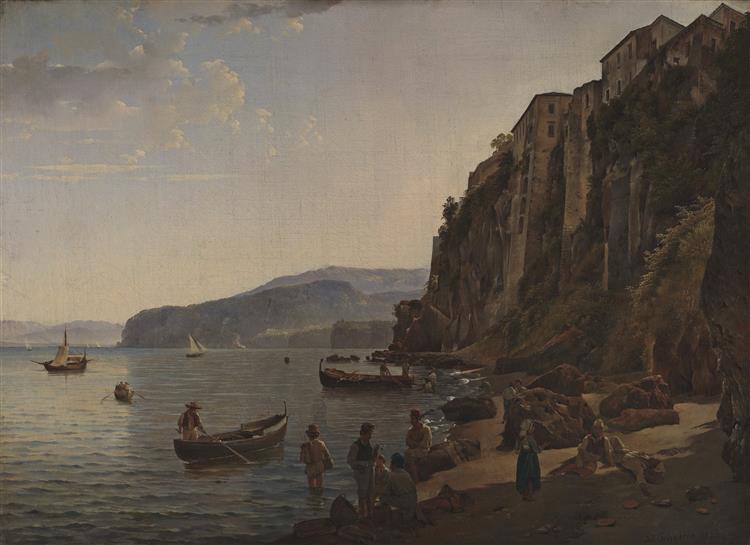Small harbor in Sorrento, 1826 - Sylvester Shchedrin