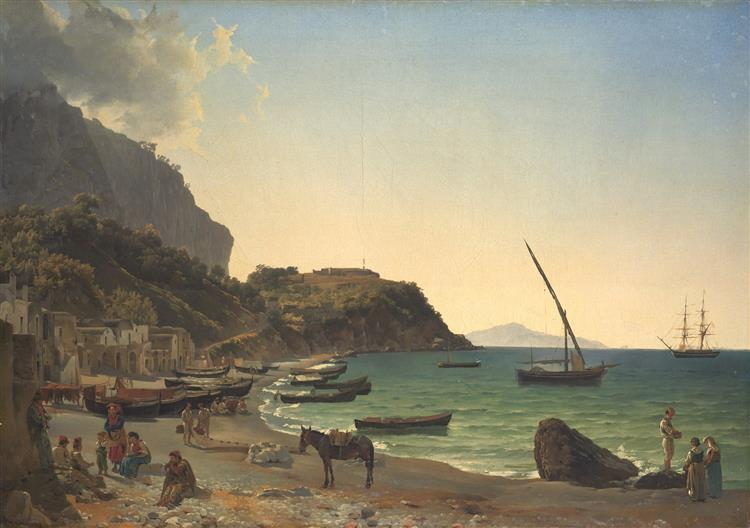 The Large harbor on Capri island, 1827 - 1828 - Silvestr Shchedrín