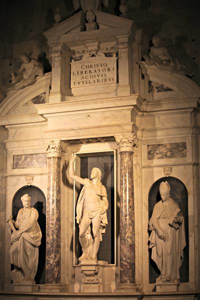 Cristo Risorto E I Ss. Pietro E Paolino Del Giambologna, 1577-79 - Juan de Bolonia