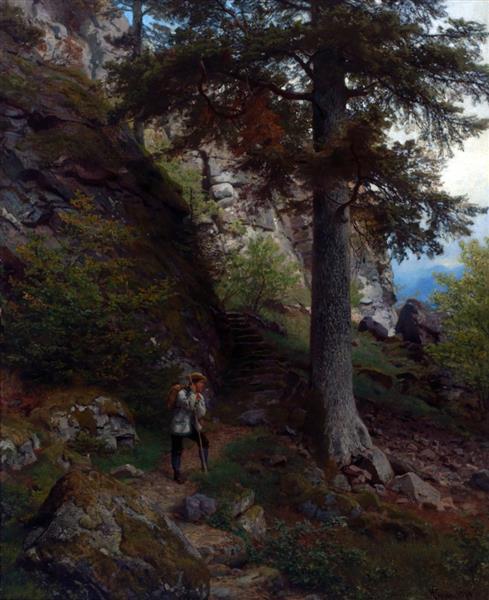 Hvile På Stien, 1878 - Hans Gude