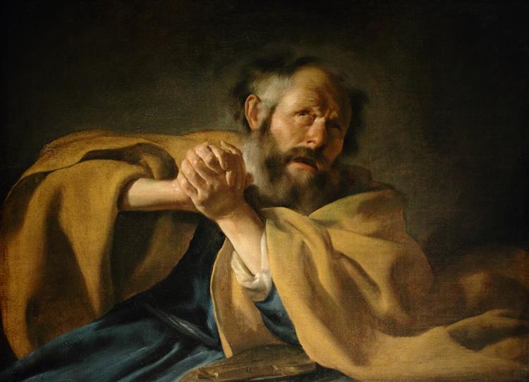 The Repentance of Saint Peter - Johannes Moreelse