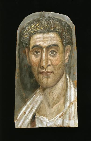 The Mummy of Demetrios (detail) - Fayum portrait