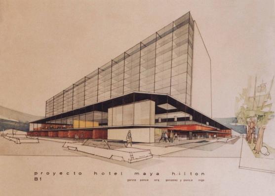 Proyecto Hotel Maya Hilton, 1966 - Fernando García Ponce