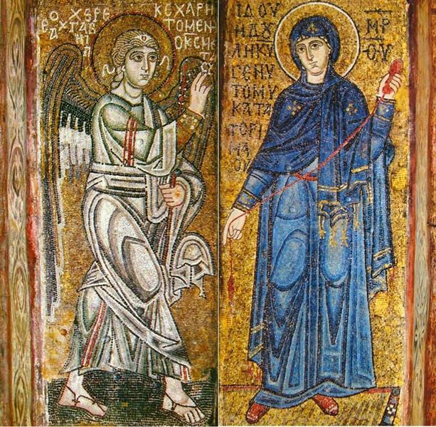 Annunciation, c.1030 - Byzantine Mosaics