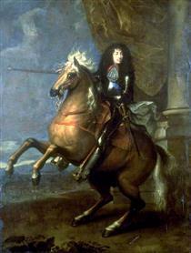 Louis XIV, Equestrian Portrait - Charles Le Brun