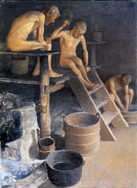 In the sauna, 1925 - Halonen, Pekka