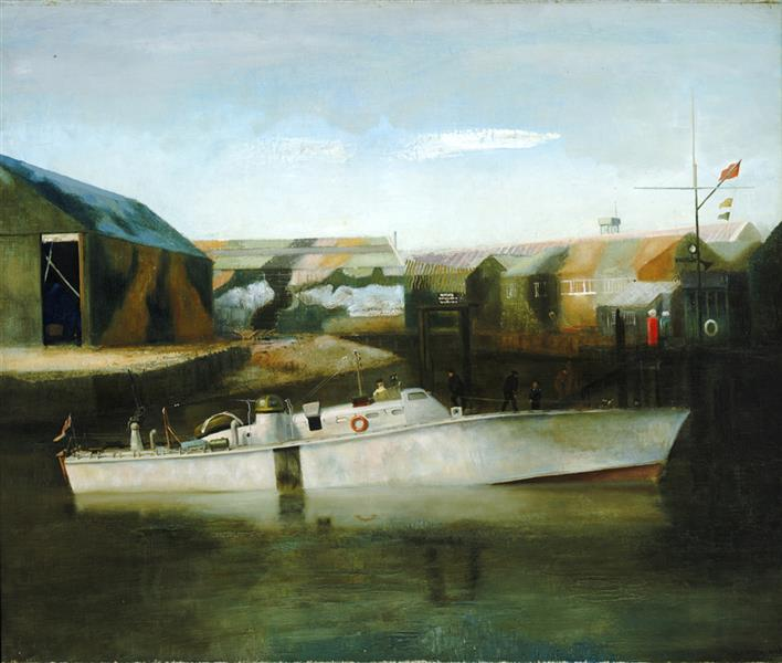 A Motor Boat of the British Power Boat Company, Hythe, 1941 - Richard Eurich