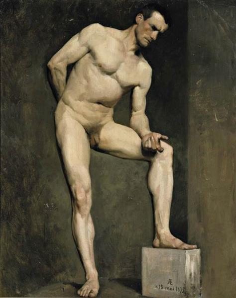 Académie D'homme, 1875 - Albert Edelfelt