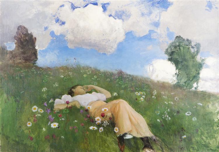 Saimi Kedollasaimi in the Meadow, 1892 - Eero Järnefelt