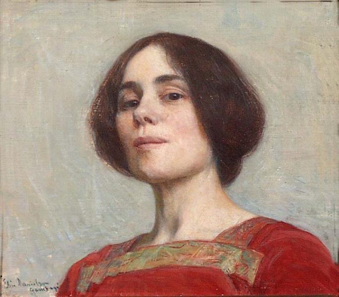 Self-portrait, 1903 - Elin Danielson-Gambogi