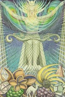 Atu II - The High Priestess - Thoth Tarot - Aleister Crowley - Frieda Harris