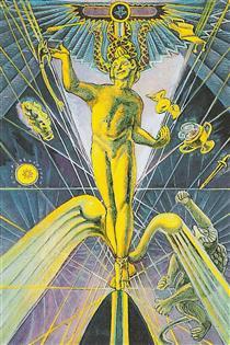 Atu I - The Magus - Thoth Tarot - Aleister Crowley - Frieda Harris