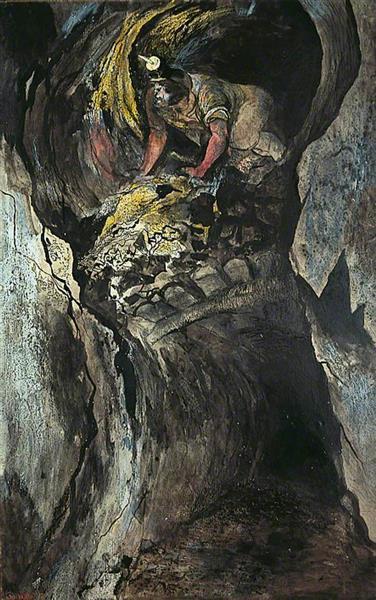 Cornish Tin Mine, Emerging Miner, 1943 - Graham Sutherland