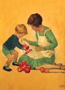 Mom With Apples - Jessie Willcox Smith