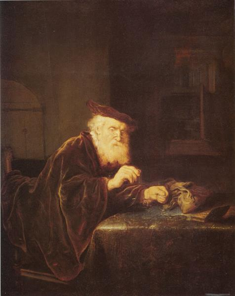 A Gold Weigher - Salomon Koninck