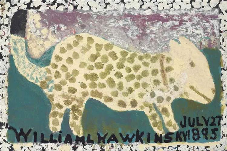 Spotted Leopard, 1988 - William Hawkins