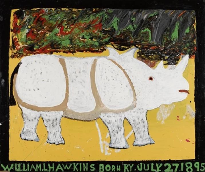 Rhinoceros (White Rhino), 1985 - William Hawkins