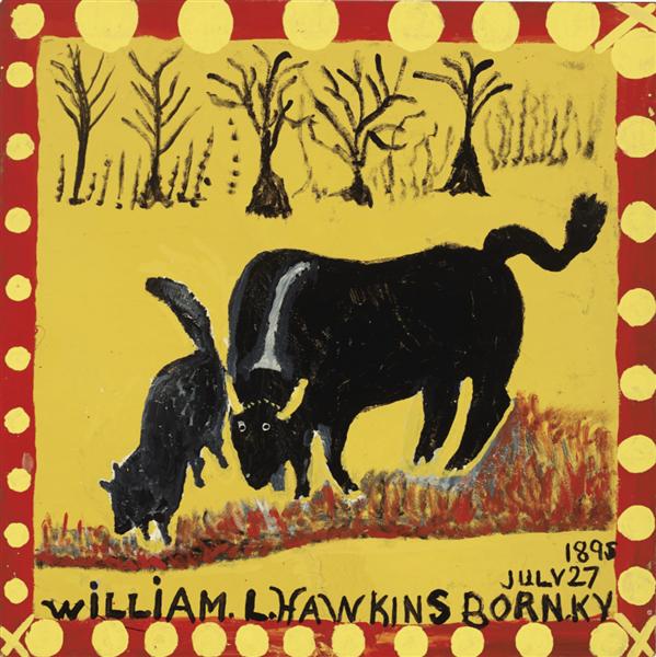 Steer and Dog, 1984 - William Hawkins