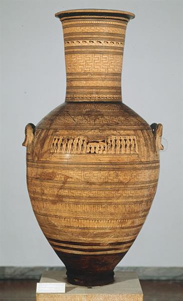 Attic Late Geometric Amphora. From Athens. By the Dipylon Painter, c.750 BC - Ancient Greek Pottery