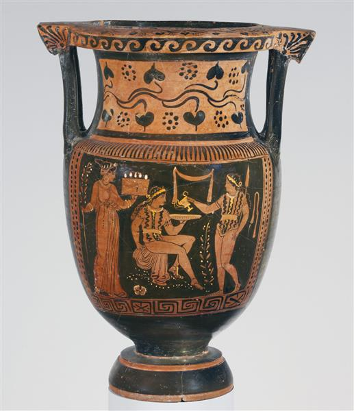 Terracotta Column Krater (mixing Bowl), c.350 BC - Ancient Greek Pottery