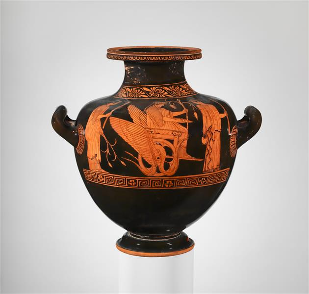 Terracotta Hydria -  Kalpis (water Jar), c.450 BC - Ancient Greek Pottery