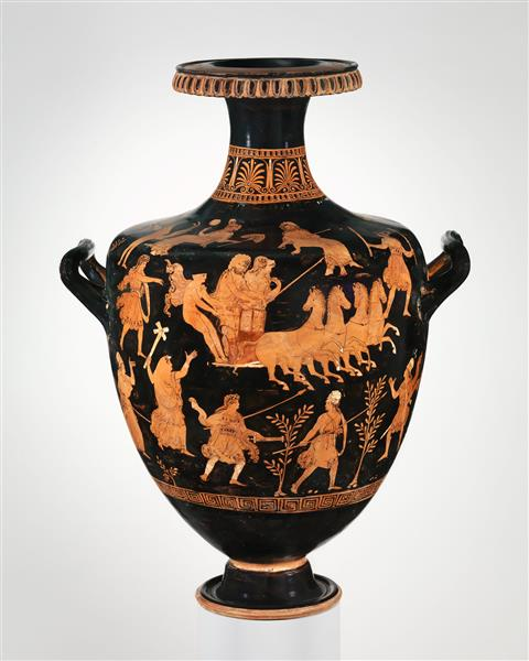 Terracotta Hydria (water Jar), c.330 BC - Ancient Greek Pottery