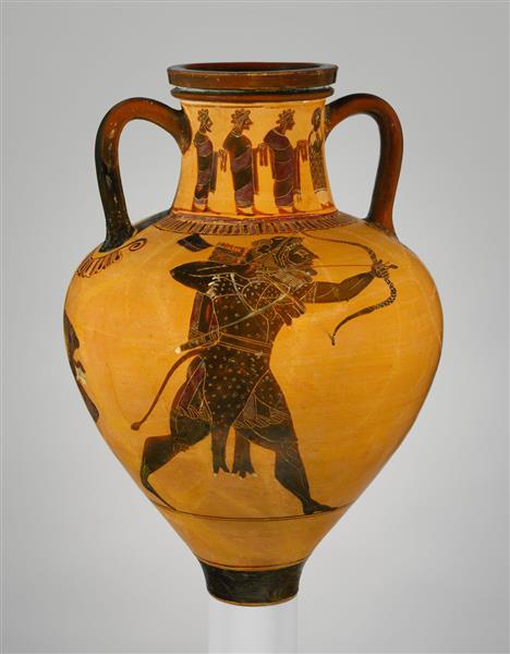 Terracotta Neck Amphora (jar), c.530 BC - Ancient Greek Pottery