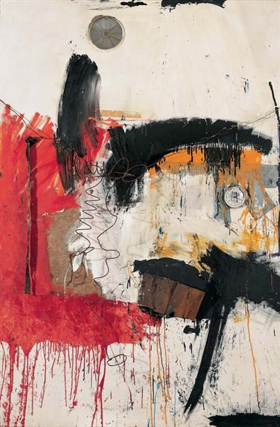 First Time Painting, 1961 - Robert Rauschenberg