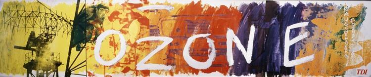 Ozone Bus Billboard, 1991 - Robert Rauschenberg