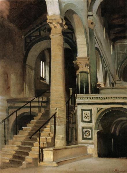 Interno di San Miniato, 1861 - Telemaco Signorini