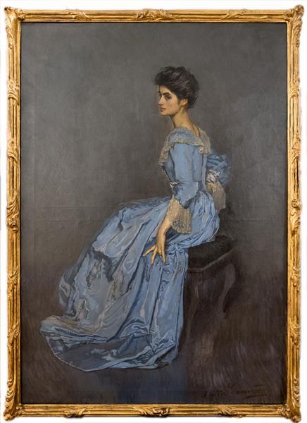 Madame Johannès Gravier (fille Naturelle De L'artiste), 1917 - Antonio de La Gandara