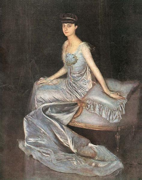 Portrait of Countess Anna De Noailles, Princess of Brancovan, c.1899 - Antonio de La Gándara