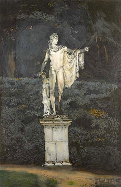 Statue D'Apollon Dans Le Parc De Versailles, 1913 - Antonio de La Gándara