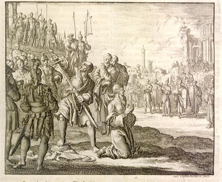 Apostle Paul Beheaded, Rome, AD 69, 1685 - Jan Luyken