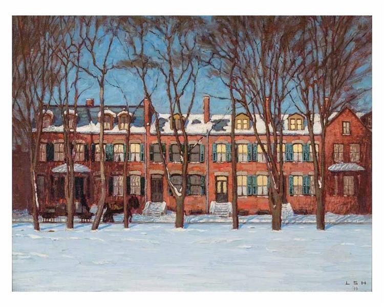 A Row of Houses, Wellington Street (Street Painting I), 1910 - Lawren Harris