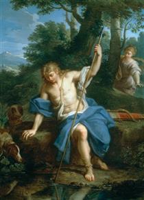 Narcissus and Echo - Placido Costanzi