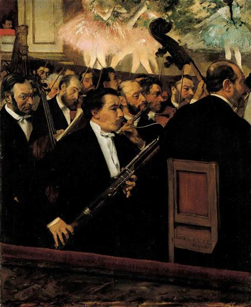 Orchestra of the Opera, c.1870 - Edgar Degas