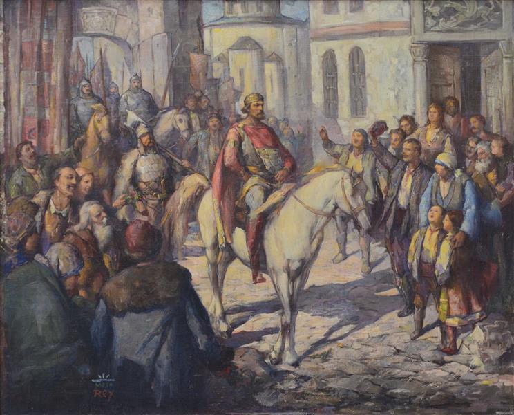 Tsar Simeon Enters Preslav - Georgi Mashev