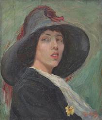 Portrait of Anna Masheva - Georgi Mashev