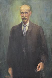 Portrait of Doctor Nikola Lambrev - Georgi Mashev