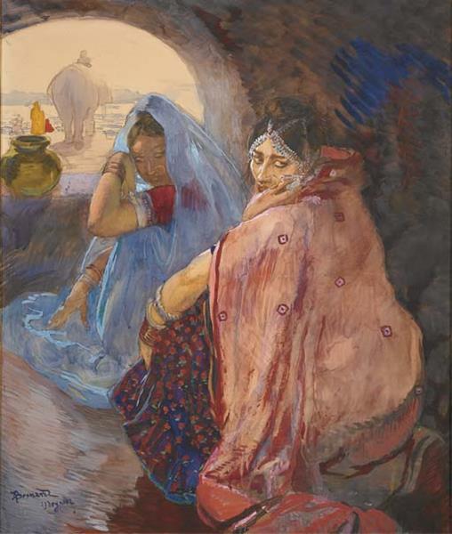 Indian Women in Udaipur - Paul-Albert Besnard