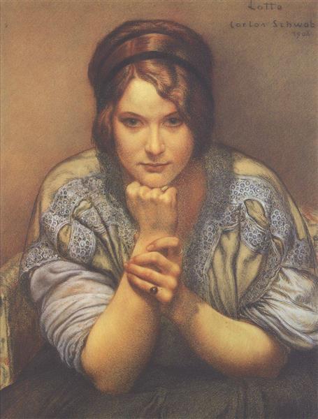 Lotte, 1908 - Carlos Schwabe