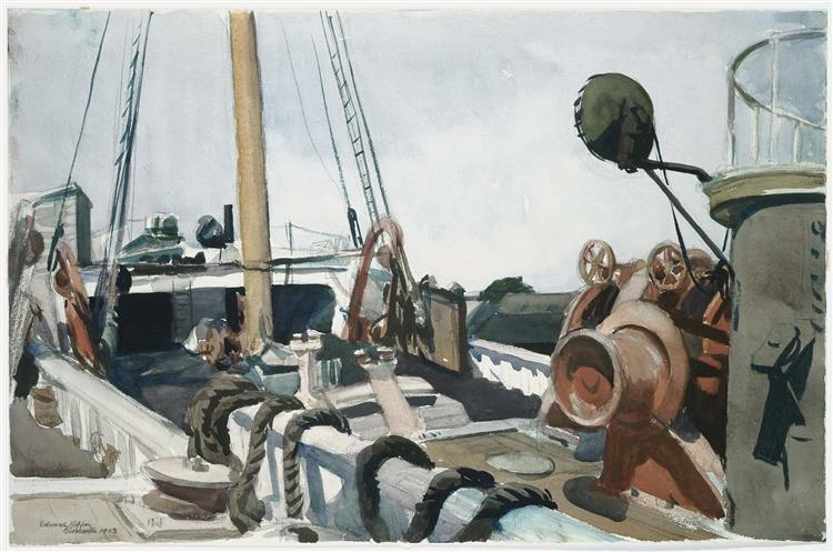 Deck of a Beam Trawler, Gloucester, 1923 - Edward Hopper