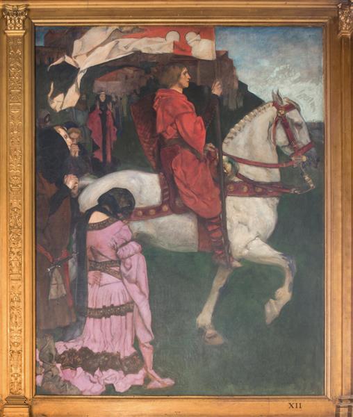 Sir Galahad passes from the land, c.1901 - Edwin Austin Abbey