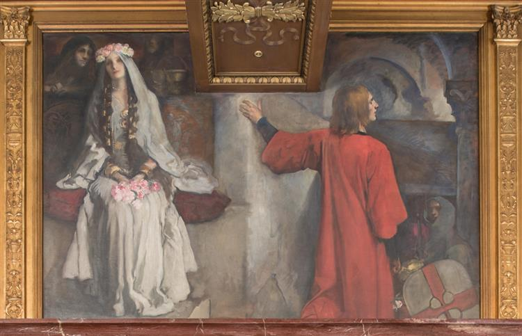 Sir Galahad wedded to Blanchefleur, c.1901 - Edwin Austin Abbey