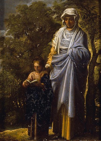 The Virgin and St Anne, 1605 - Adam Elsheimer